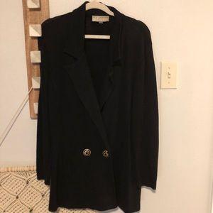 St. John Basics Black Santana Knit Sweater Jacket